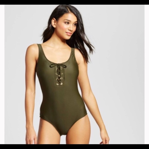 5bb636e9f0f Mossimo NWT one-piece olive green swimsuit size S
